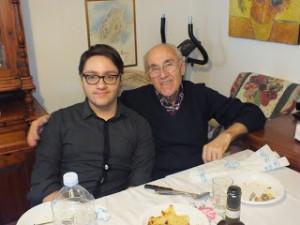 Mio padre Livio con mio figlio Federico: la ricetta dello stoccafisso all'anconitana è una storia da tramandare