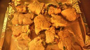 Termino di cuocere al forno i fagottini di pollo